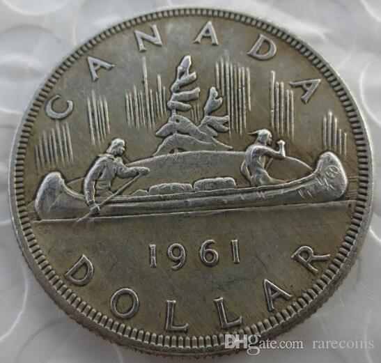 Großhandel Kanada 1961 1 Dollar Kopie Münzen Elizabeth Ii Dei Gratia