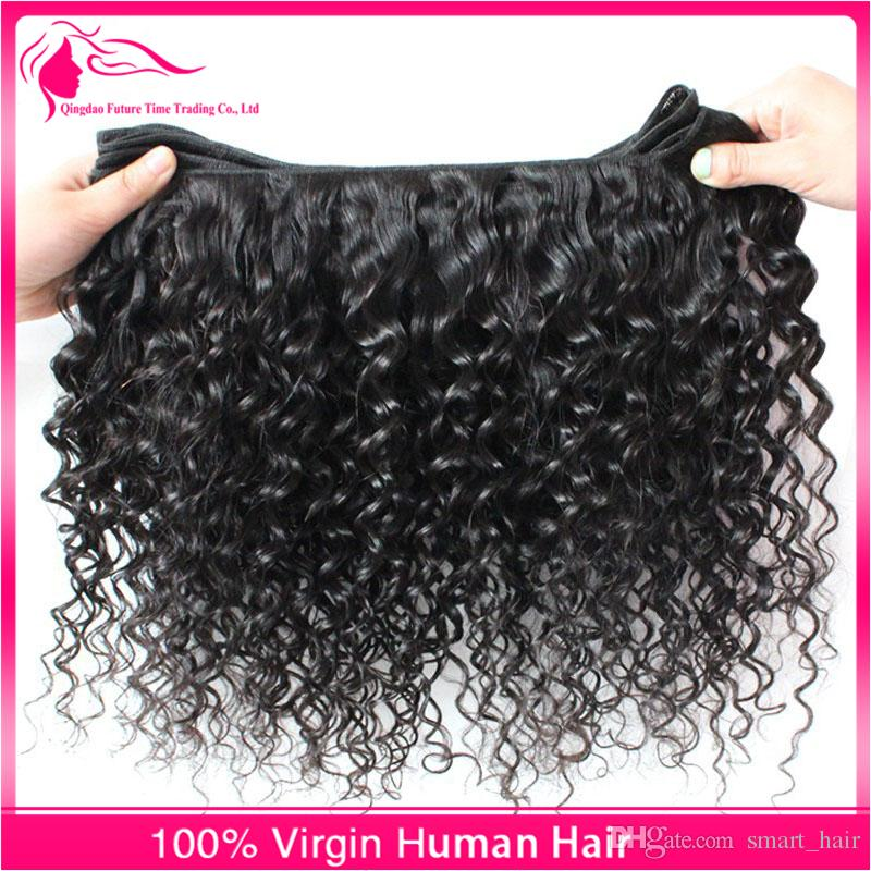 Hot Sale Kinky Curly Virgin Human Hair Weaves Natural Color Brazilian Hair Bundles Afro Kinky Curly Hair Extensions For Black Woman