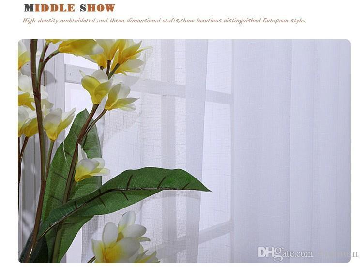 도매! 하나의 패널 현대 솔리드 화이트 침실 리넨 쉬어 / 얇은 명주 그물 / Voile 커튼 음영 거실