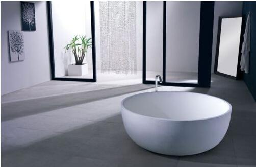 Charming 1350 X 490 MM COLLEEN ROUND STONE SOLID SURFACE BATH TUB 1008 Stone Bathtub  Solid Surface Tub Corian Bathtub Online With $1899.5/Piece On Jenhonu0027s  Store ...