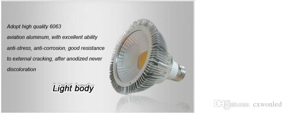 E27 E26 GU10 Led PAR30 Lights Ultra Bright 18W COB Dimmable Led Bulbs Light 30/60 Angle Warm/Cool White AC 110-240V + Warranty 3 Years