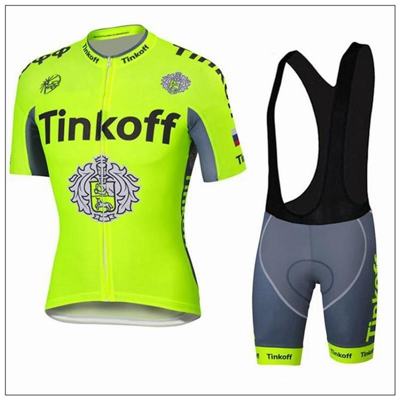 Factory Price THINKOFF Cycling Jersey Set Short Sleeve With Cool Max Padded  Trousers Fluo Green Cycling Jerseys Top Class Lycra Bike Wear Custom Cycling  ... d98cf2e05