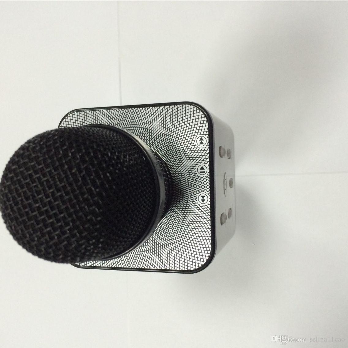 ميكروفون لاسلكي محمول Q7 ماجيك KTV مع مكبر صوت محمول مكبر صوت محمول ماجيك بلوتوث مشغل كاريوكي للهواتف الذكية فون 7