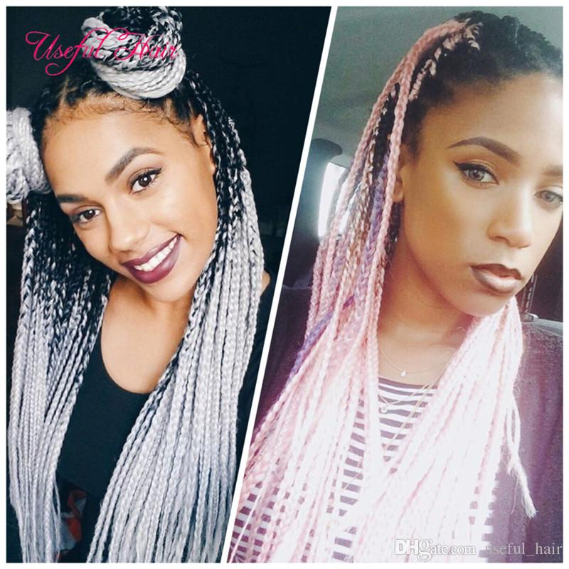 2018 Single Two Ombre Color Jumbo Braids Marley Braids Premium