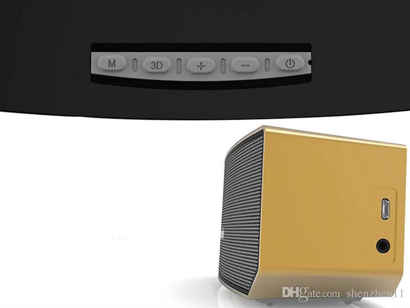 Bluedio BS-3 Deve Bluetooth Hoparlörler Taşınabilir Kablosuz 3D Stereo Müzik Surround Çalar Siyah Beyaz Gümüş Altın 4 Renkler DHL Ücretsiz MIS090
