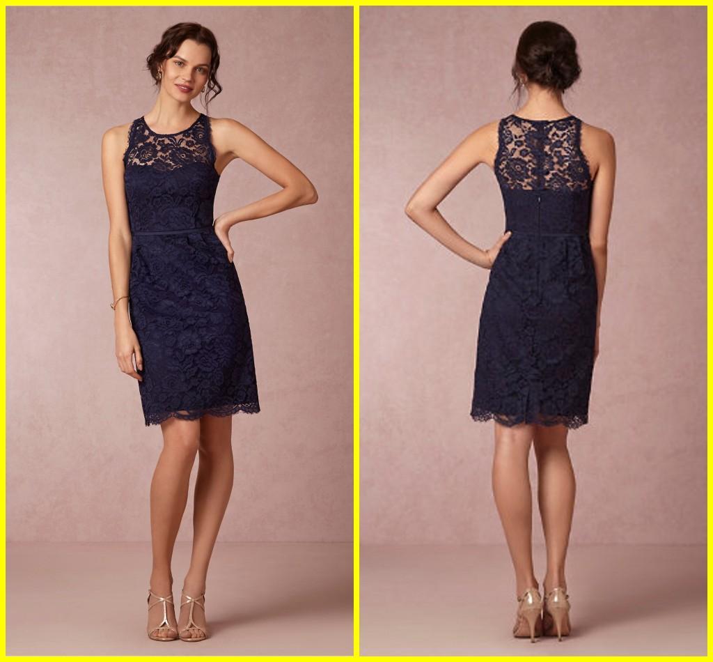 Bhldn 2015 sexy elegant bridesmaid dresses sheath short navy blue see larger image ombrellifo Images