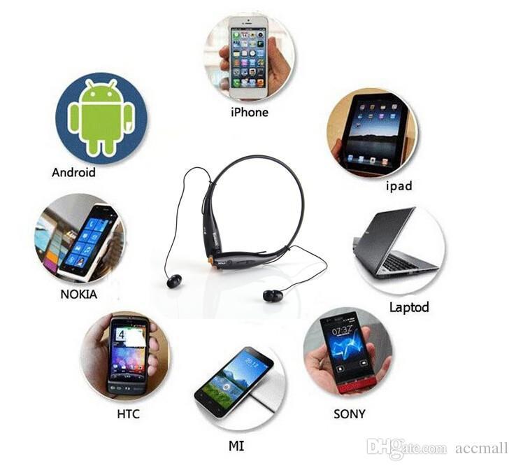 HV-800 Stereo Wireless Bluetooth Headset HV800 Neck Halter Style Type Portable Sport Earphone Headphone Universal for iPhone 6 5S Samsung LG
