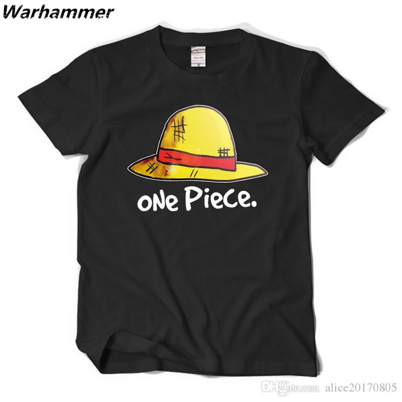 Men T shirt ONE PIECE Anime T-shirts luffy straw hat EU size Boys T shirts 100% cotton O-neck factory price Tee Lovers must have top tee XXL