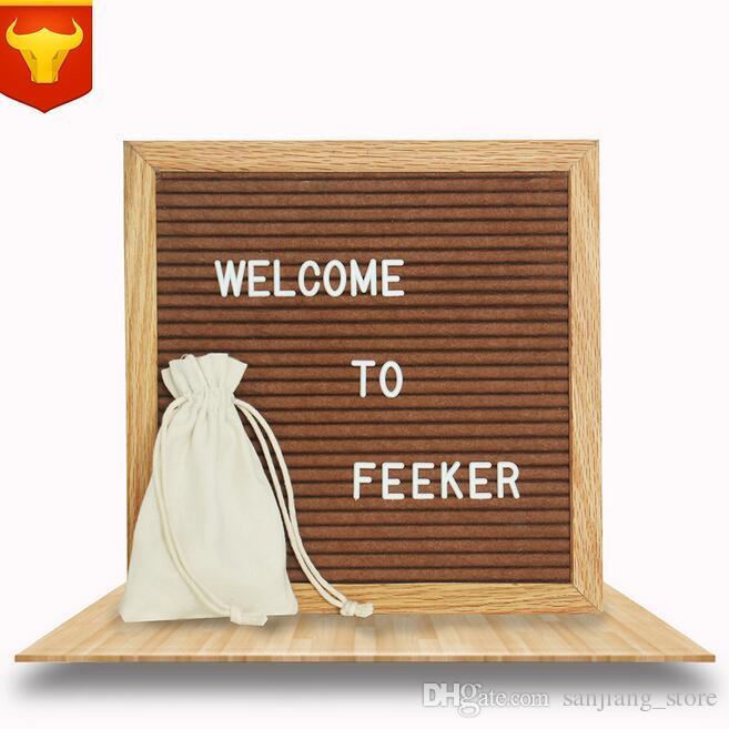 10 * 10inch Black Felt Letter Board مع 360 حرفًا قابلة للتغيير سكينة حرفية مجانية وحقيبة للمناسبات التجارية والمكتبية الاجتماعية على المنازل