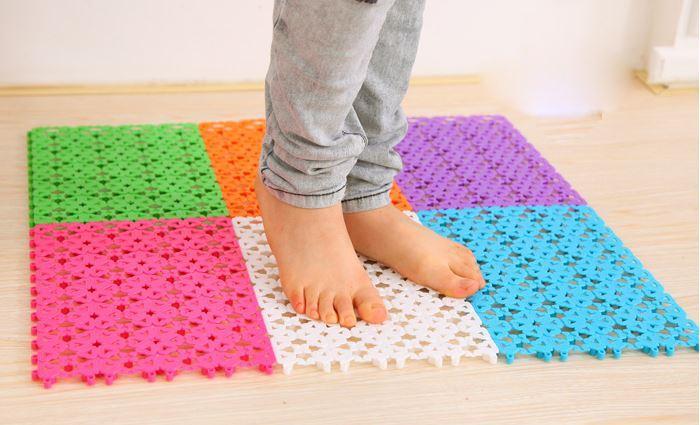acheter plastique de salle de bain tapis solide paillasson tapis de bricolage salon salle. Black Bedroom Furniture Sets. Home Design Ideas