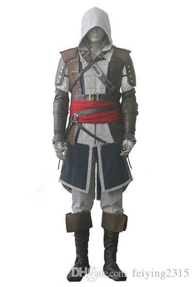 Assassin's Creed IV 4 Drapeau Noir Edward Kenway Cosplay Costume Ensemble Ensemble Sur Mesure Envoi Express