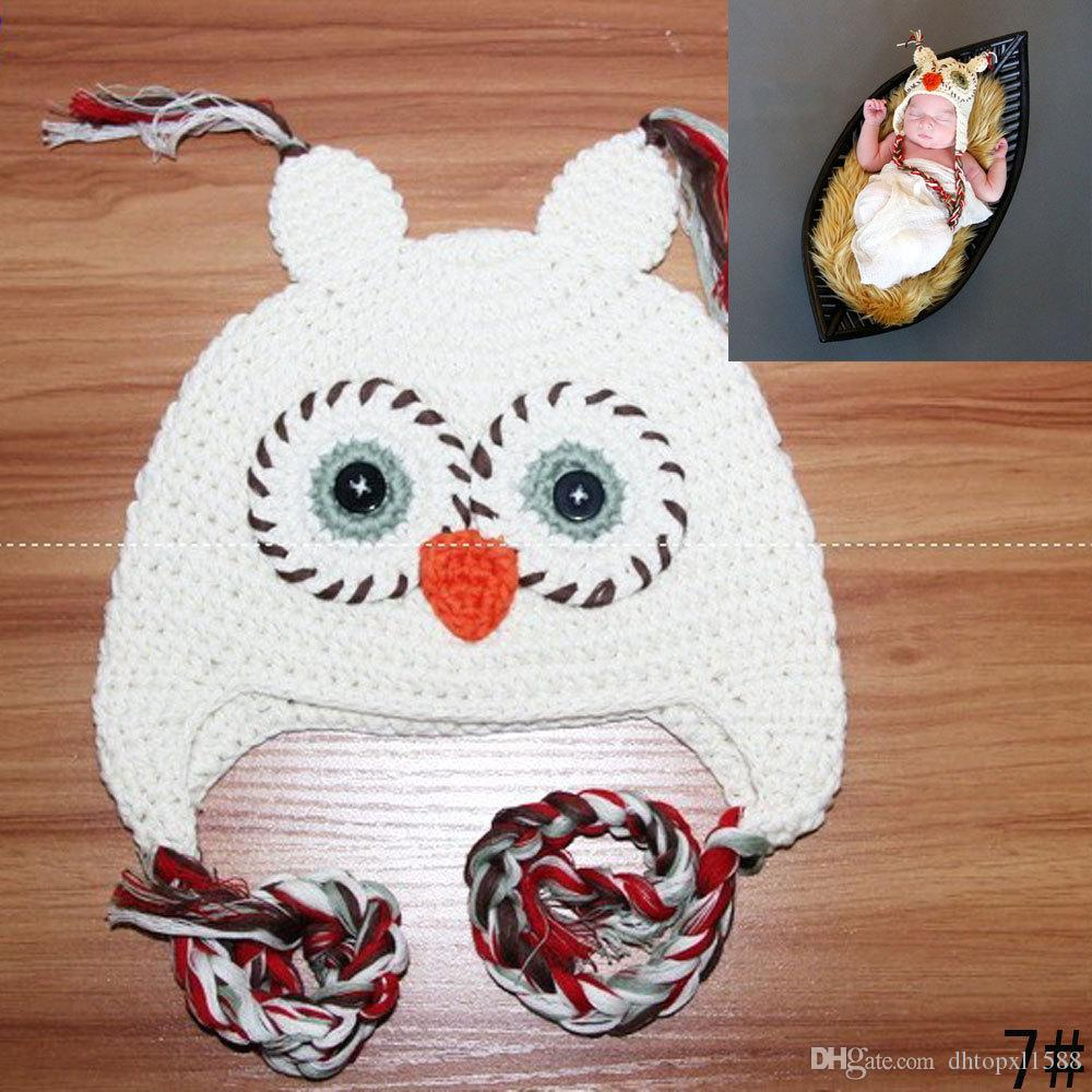 NEW Hot sales Baby hand knitting owls hat Knitted hat Children's Caps crochet hats for kids
