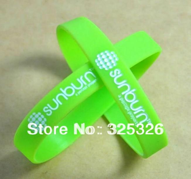 custom debossed color filled bracelet, available to printed custom design logo, silicon wristband, promotion gift, 100pcs/lot