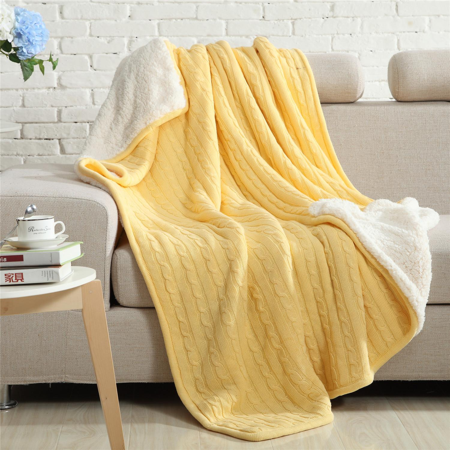 High Quality Luxury Overall Knit Blanket Coverlet Cotton Velvet