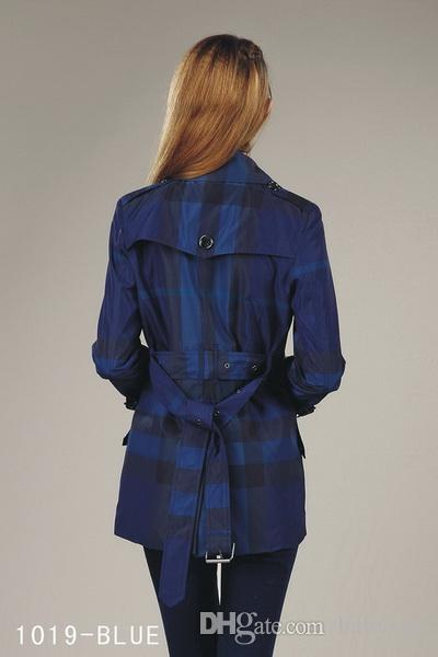 Heiße Angebote! Frauenart und weise britischer mittlerer langer Trenchcoat / Qualitätsmarkenentwerfer England-Graben für Frauengröße S-XXL 2 Farben