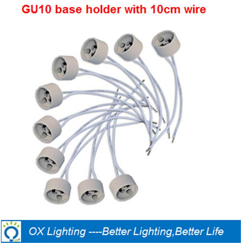 2017 gu10 socket ceramic porcelain lamp holder gu 10 halogen socket 220v wire connector. Black Bedroom Furniture Sets. Home Design Ideas