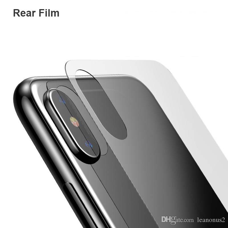 For Iphone X Rear Thin Tempered Glass Screen Protector Clear Back
