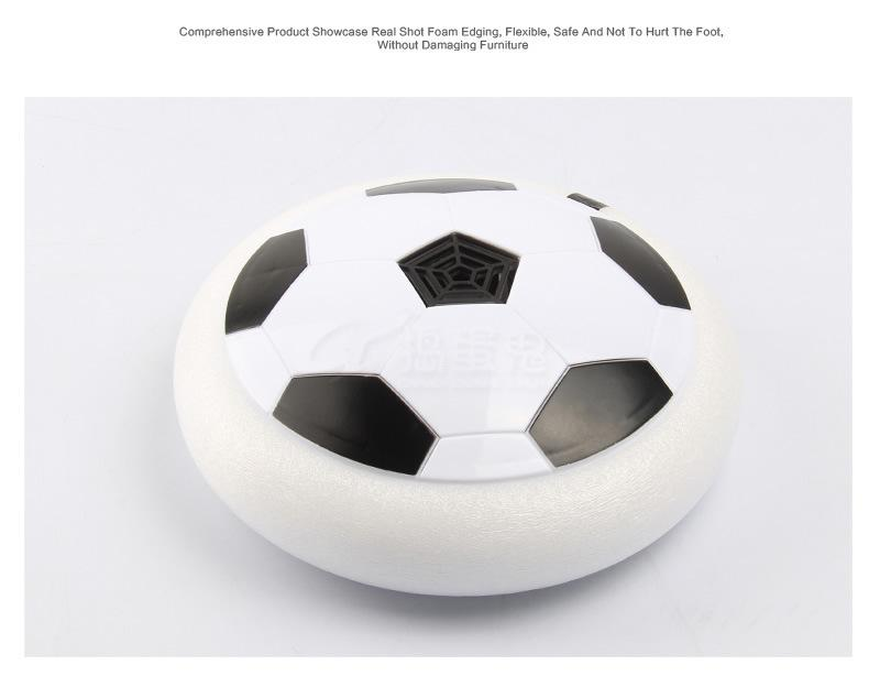 Hot Selling Kids Gift Football Toy 2017 LED Air Power Soccer Balls Gliding Multi-surface Hovering Football Game Toy