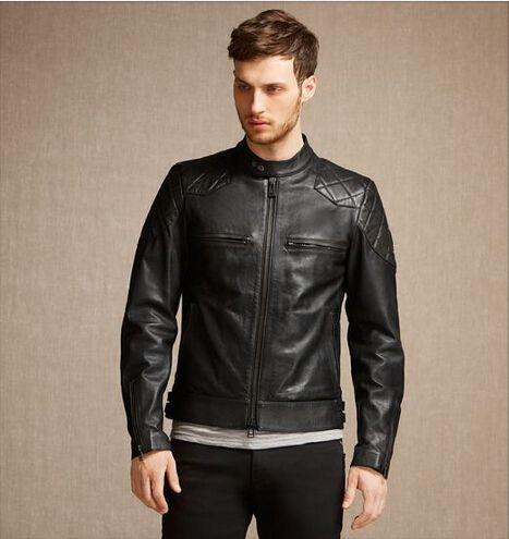 2018 2015 New Leather Jacket Men Fashion Quality Brand ...