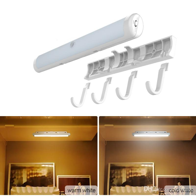 Online Cheap New Motion Sensor Night Light Potable Led Closet Lights Wall  Lamp Battery Powered Wireless Cabinet Leds Lamp With Magnetic Strip By  Mrmore ...