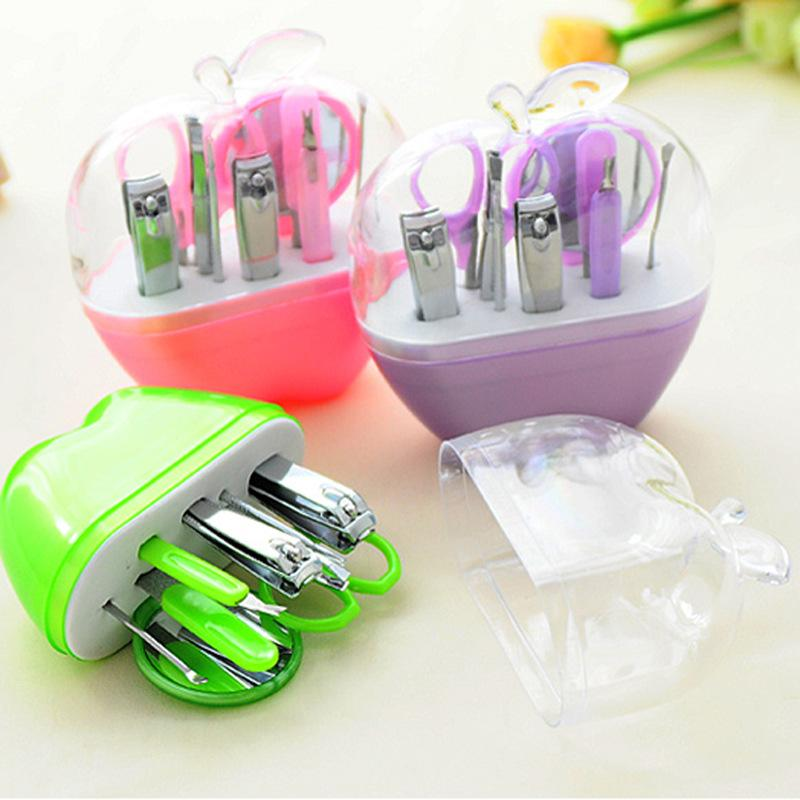 2015 New Apple Shaped Manicure Set Pedicure Tools Mirror Nail ...