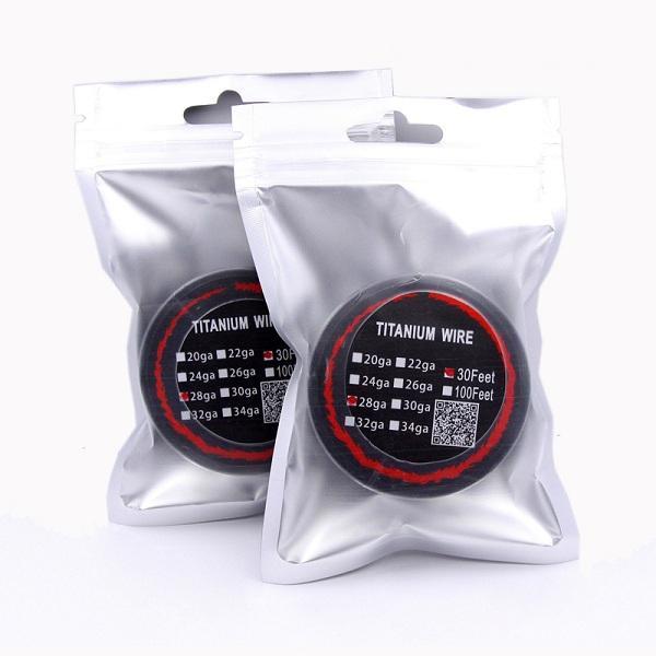 DHL Титановая проволока сопротивление нагрева проволоки 30 футов 24g 26g 28g 30g датчик TA1 нагревательные провода для контроля температуры TC RDA испаритель моды