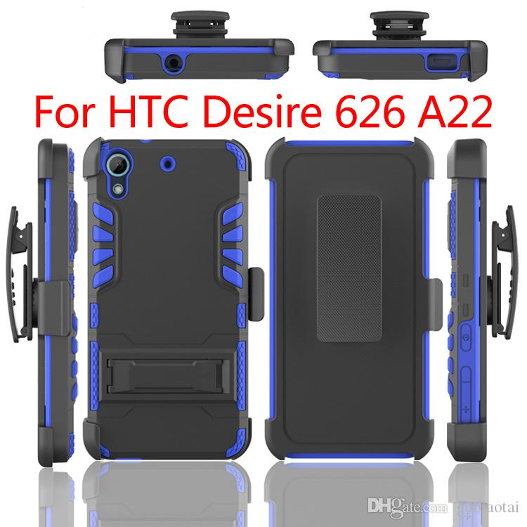 Hot Sell All in One Super Combo Heavy Duty With Clip Shockproof Cell Phone Case TPU+PC For HTC Desire 626 A22