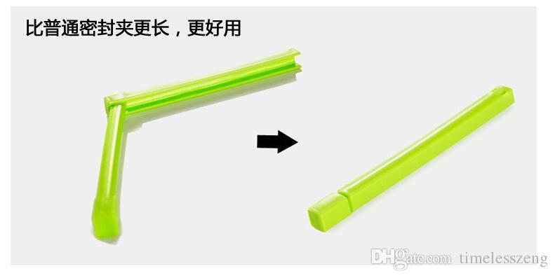 Clip en plastique écologique de fermeture de sac en vrac scellant bâton alimentaire frais cuisine stockage joint dossier