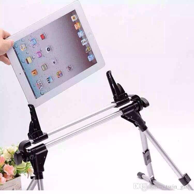 Aluminum iPad mini Air Tablet PC Folding Lazy Stand Holder Mount For Galaxy Tab Sofa Bed Floor Outdoor iPhone Portable Rotating
