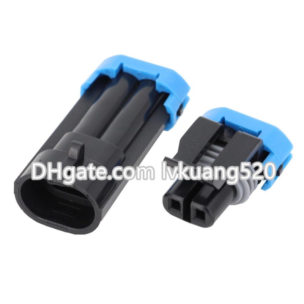 5 Sätze 2 Pin Außentemperatursensor Stecker Automotive Steckverbinder Wasserdichte Anschlüsse DJ7024-1,5-11 / 21