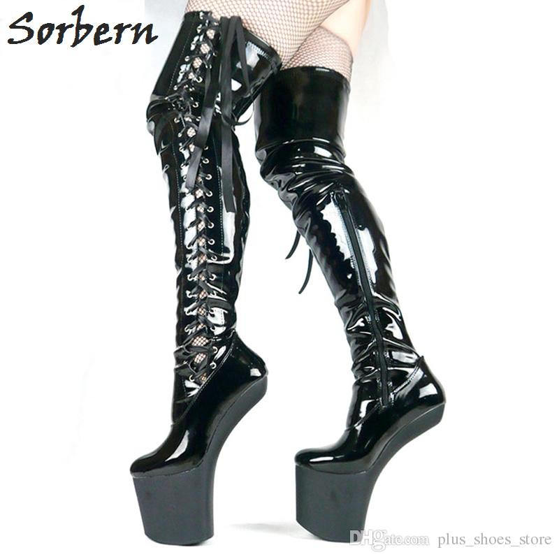 Boot boot fetish high knee woman
