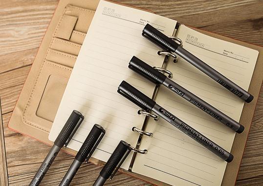 NEW STA 8050 페인팅 펜 방수 바래지 블랙 훅 라인 메이커 펜 부드러운 팁 브러쉬 펜 드로잉 스케치 니들 펜이 0.05mm-0.8mm의 디자인