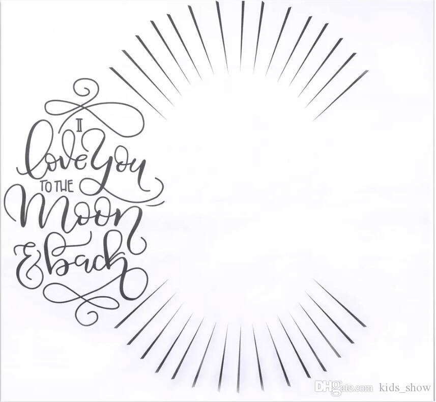Neugeborene Fotografie Hintergrund Requisiten Baby Foto Prop Stoff Hintergründe Ostern Säugling Decken Wrap Brief weiche Decke Ins Tuch Matte Kind
