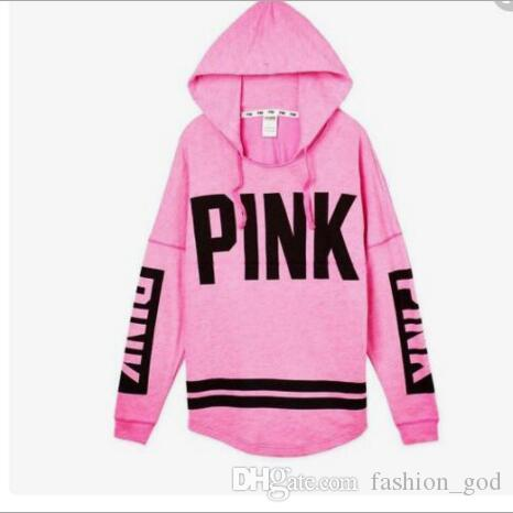 Pink Jackets Love Pink Hoodies Women Pink Sweatshirts Fashion Shirt Long  Sleeve Coat Letter Print Tops Autumn Pullover Hoodie Jumper B3558 Women  Pink ...