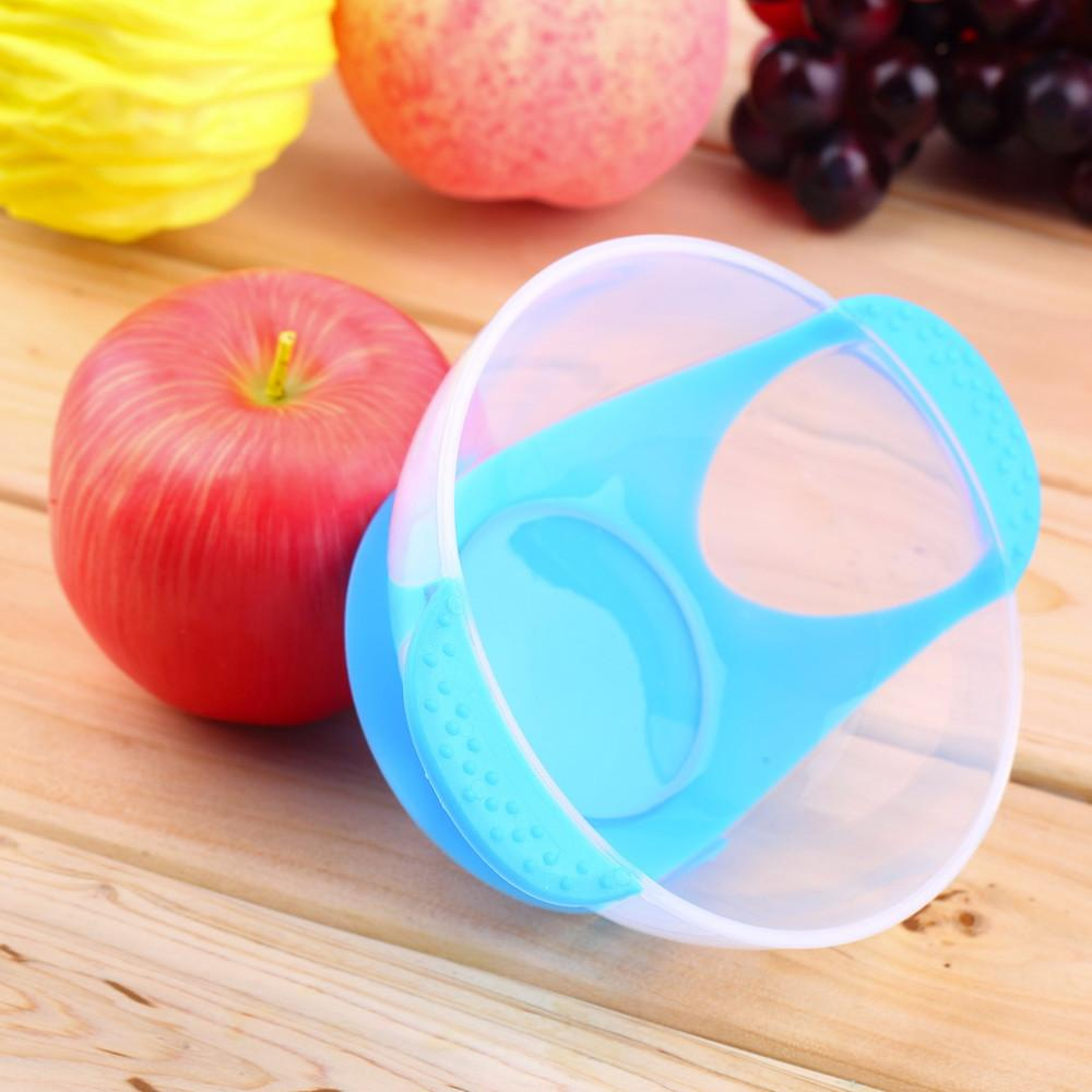 Baby Infants feeding Bowl With Sucker and Temperature Sensing Spoon Suction Cup Bowl Slip-resistant Tableware Set New Arrival TT67
