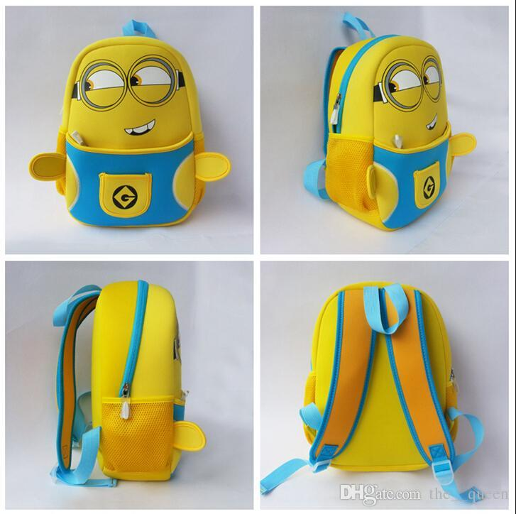 Minion Backpack Cute Baby Kids Cartoon School Bags Minions Bag ...