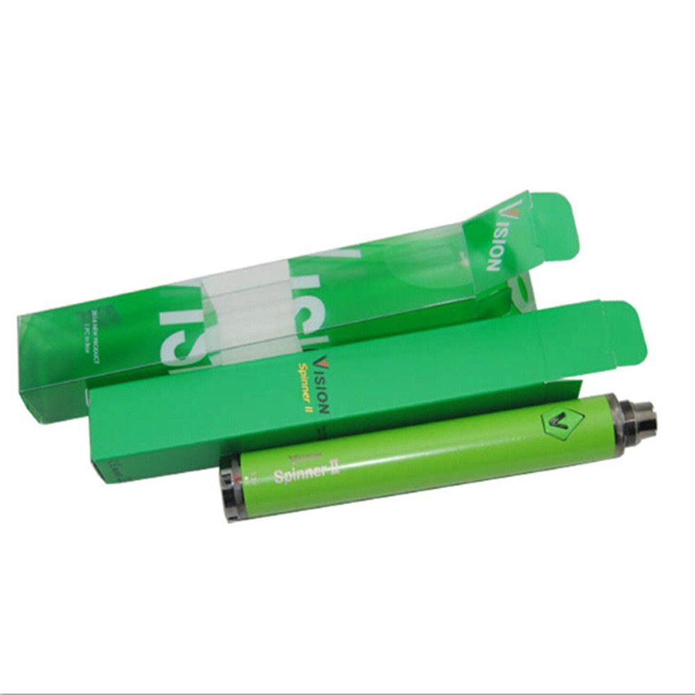 Hot Vision Spinner 2 batteria ecig enorme vape vapor penna a tensione variabile batterie VS evod torsione adatta ego CE4 MT3 atomizzatore vaporizzatore DHL
