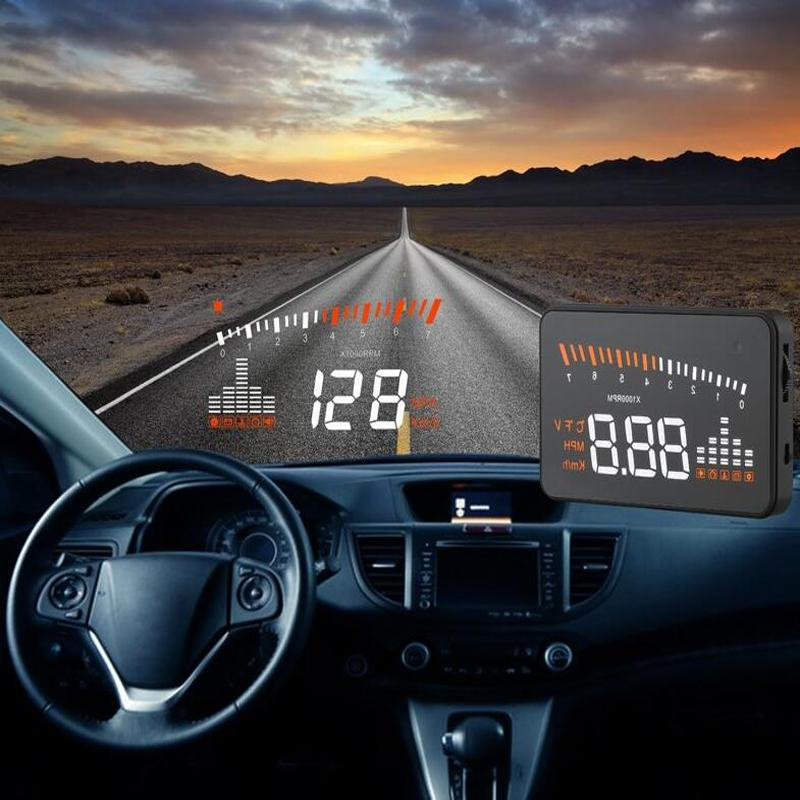 3inch x5 universal car hud head up display obd ii interface projector vehicle overspeed alarm. Black Bedroom Furniture Sets. Home Design Ideas