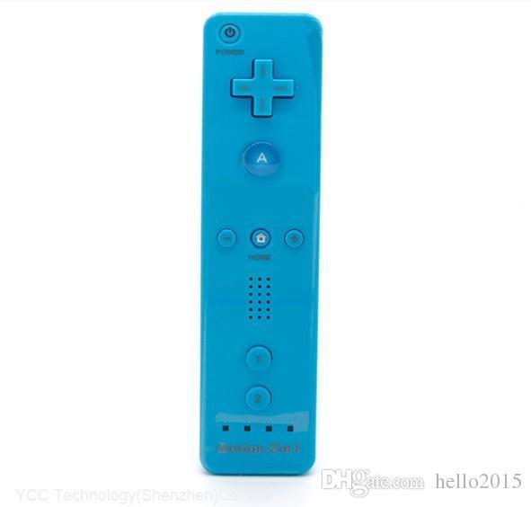 5 couleurs intégrées dans la télécommande Motion Plus et le contrôleur Nunchuck pour Nintendo Wii Blue Color Livraison gratuite