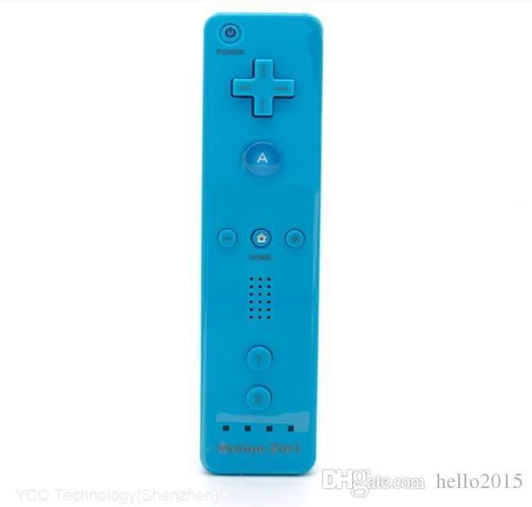 5 farben Errichtet in Motion Plus Remote und Nunchuck Controller Für Nintendo Wii Blau Farbe Kostenloser Versand