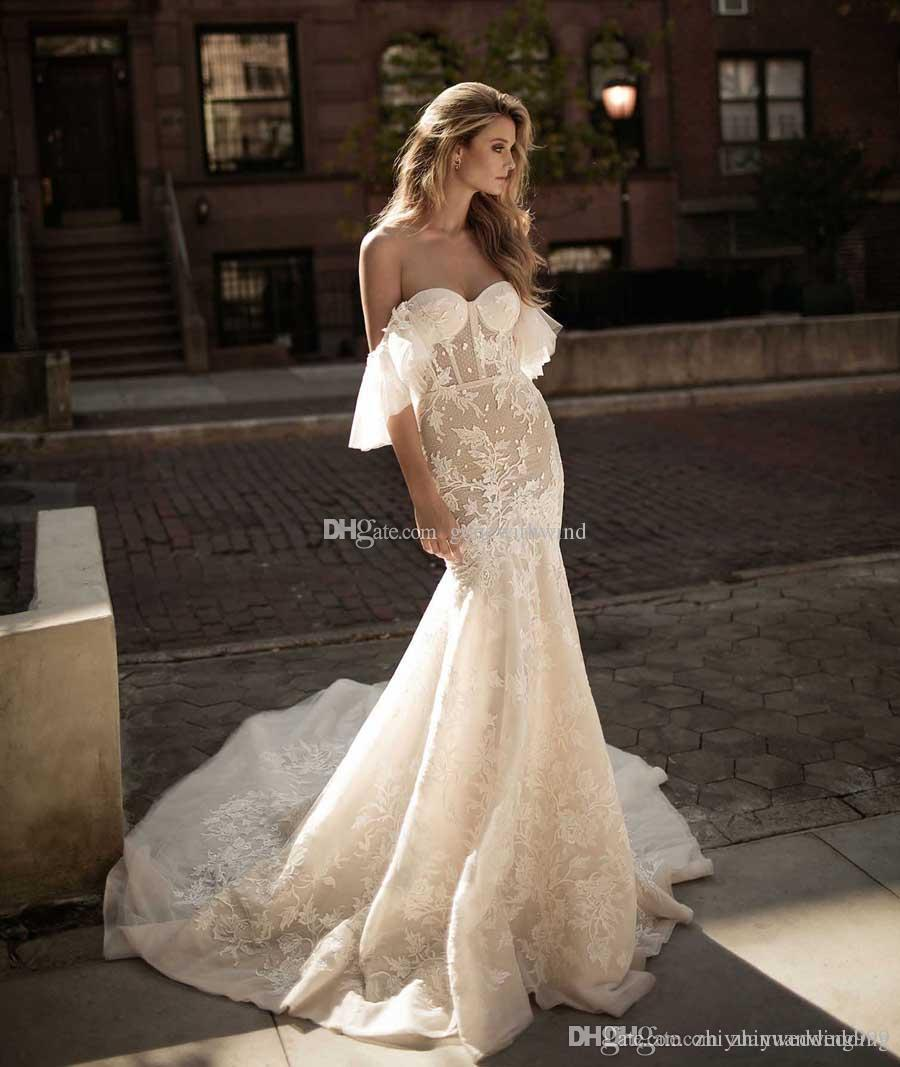 2017 Berta Bridal Royal Train Fit And Flare Mermaid Wedding Dresses ...