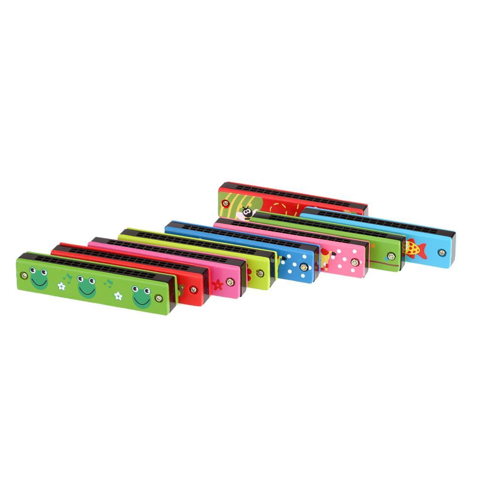 التعليمية لعبة الآلات الموسيقية اهتزاز هارمونيكا 16 ثقوب هارمونيكا الموسيقية لعبة هدية للأطفال