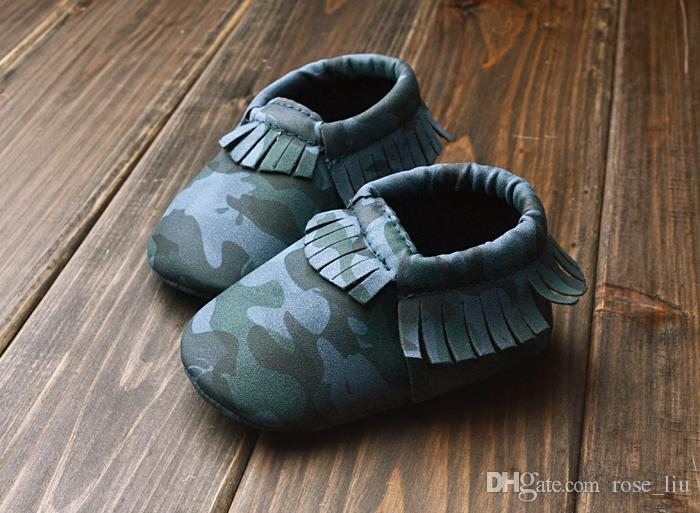 2015 Baby First Walker moccs Baby moccasins soft sole moccs leather camo leopard prewalker booties toddlers infants bow leather shoes