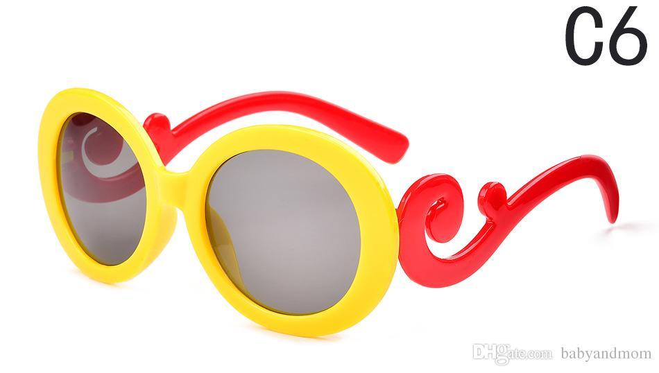 2016 neue Kinder Sonnenbrille Sunblock Runde Retro Brille Mode Wolken Sonnenbrille Kinder Jurte Sonnenbrille hohe Qualität