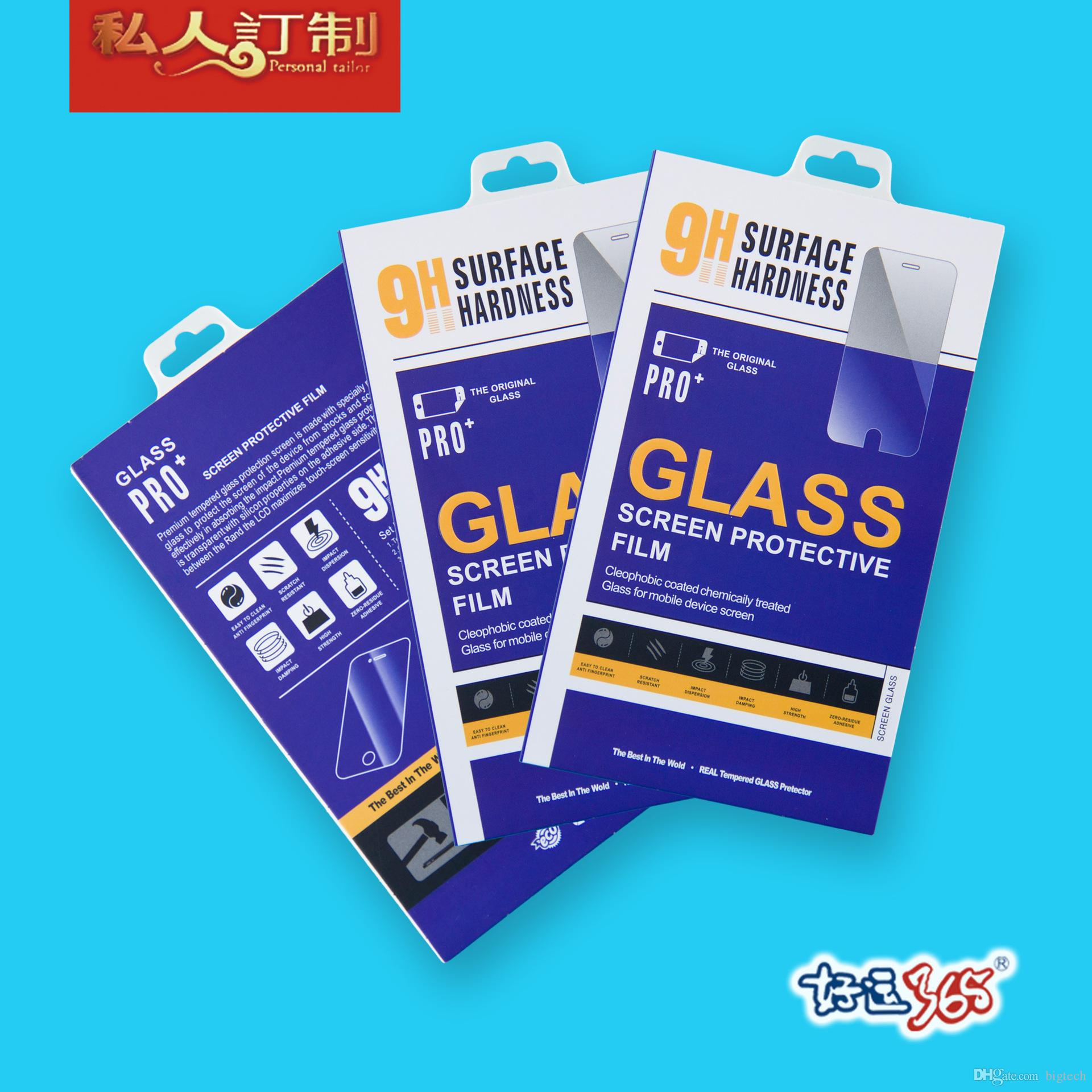 Colorful Retail Package Crystal Box Bags Tempered Glass Film Retail Packaging Box for iphone 6 5s Paper Package
