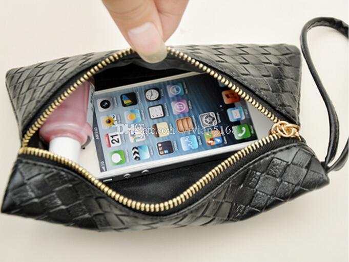 الأزياء سستة بو الجلود عملة محفظة المرأة المحفظة اليومية التخزين التغيير محفظة السيدات حقيبة الهاتف حقيبة آيفون 6 زائد 5 ثانية شحن مجاني