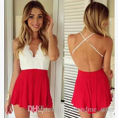 3a3de437fab 2019 Fashion Summer Short Jumpsuits Rompers Women Sexy Backless V Neck  Shorts Pants Beach Dress Ladies Jumpsuit Casual Club Party Playsuit B72  From ...