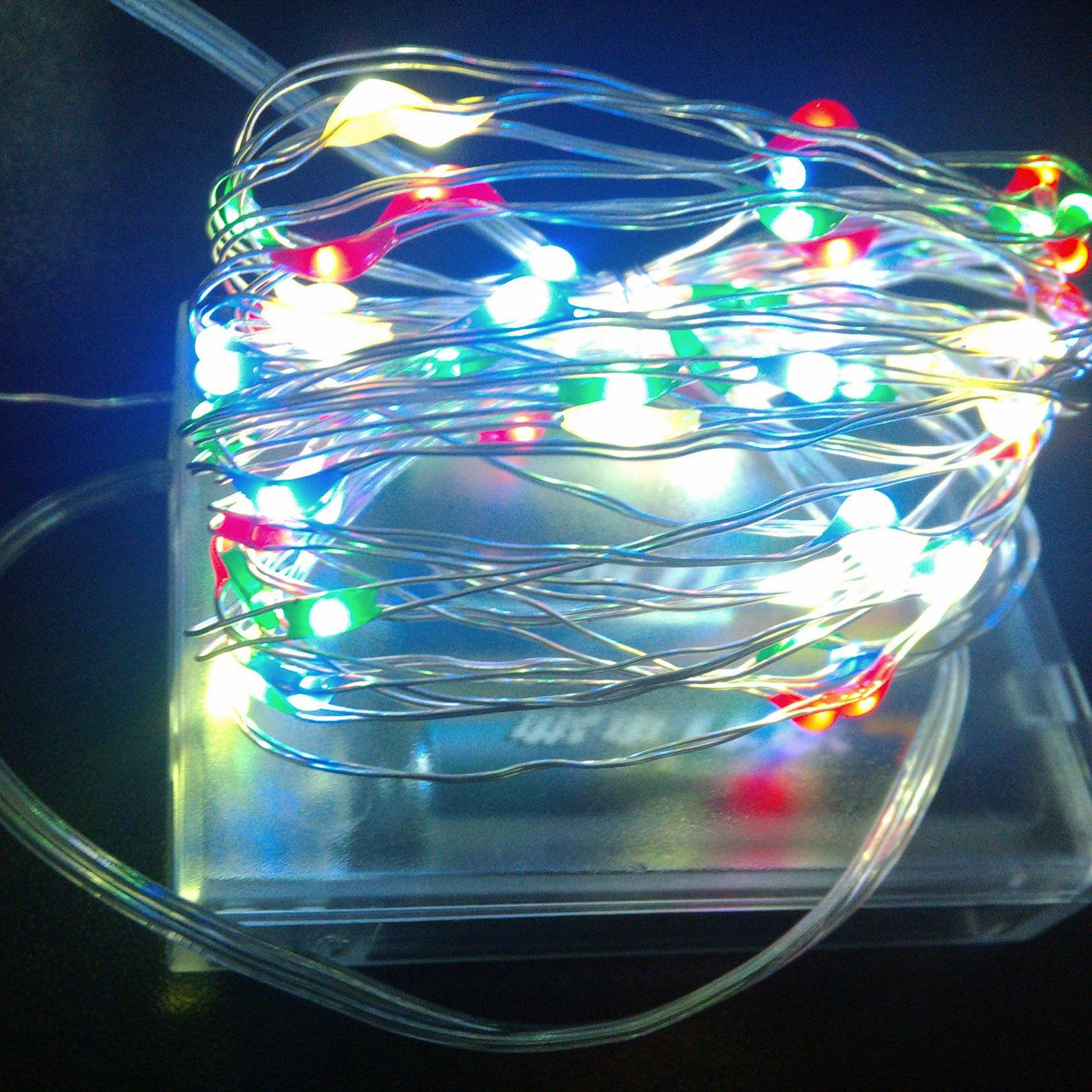 Us Stock! Copper Wire Led String Strings Fairy Light Chistmas Lights ...