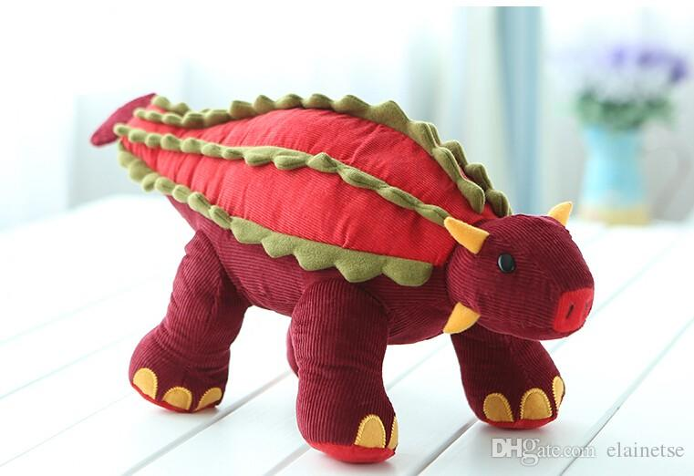 2019 Large Dinosaur Stuffed Animal Pattern Soft Plush Red Cotton