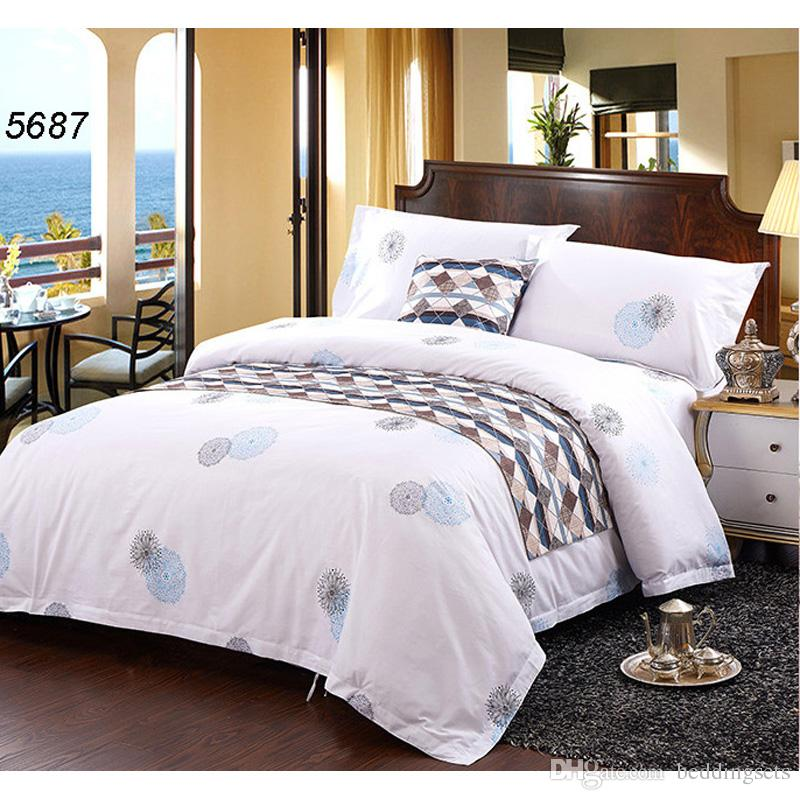 Marvelous 100% Cotton Bedding Sets Hotel Bed Clothes Bed Set Wide Side Quilt/Blanket  Cover Fat Bed Sheet Envelop Pillow Case 5687 Cotton Duvet Purple Duvet  Covers ...